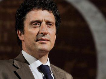 15/06/2009 ROMA PRESENTAZIONE DEL PROGRAMMA RAI ' IL GRANDE GIOCO ' NELLA FOTO PIETRANGELO BUTTAFUOCO