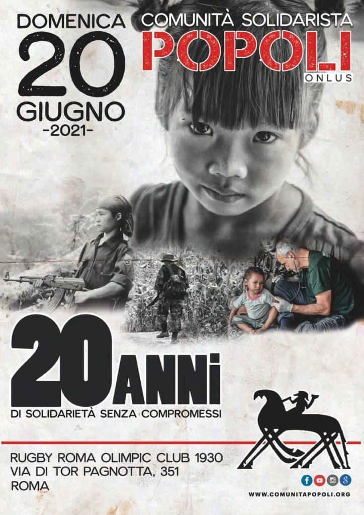 locandina festa roma 20 anni di popoli
